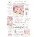 """RECTO - Faire part de naissance fille - """"Certificat naissance"""""""