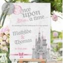"""Tableau de Bienvenue Mariage """"Princesse de conte de fée"""" personnalisé"""