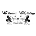 "Stickers de voiture mariage personnalisé - ""Mickey & Minnie"""