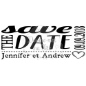 "Tampon mariage personnalisé - ""Save the date 2"" - 5 x 2 cm"