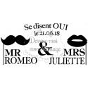 "Tampon mariage personnalisé - ""Mr & Mrs"""