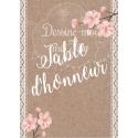Marque-table personnalisé - mariage Bohème chic / Romantique