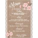 Porte menu personnalisé - mariage Bohème chic / Romantique
