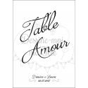 """Marque-table Chevalet """"Minimaliste"""" personnalisé"""
