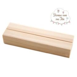 Socle en bois pour plexiglass - format 13x18 cm ou 20x30 cm
