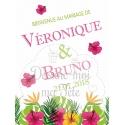 """Tableau de Bienvenue Mariage """"Les Iles / Tropique"""" personnalisé"""