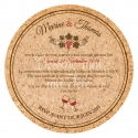 Faire part de Mariage Vin - Bouchon en liège - VERSO