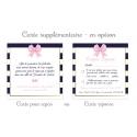 Cartes supplémentaires (en option) - Bleu Foncé & Rose poudré