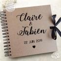 Livre d'Or mariage kraft - Calligraphie à personnaliser pour votre mariage