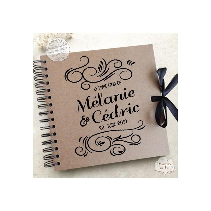 Livre D Or Mariage Kraft Arabesque A Personnaliser Pour