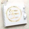 Livre d'Or mariage - Couronne de fleurs - à personnaliser pour votre mariage