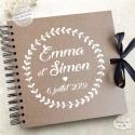Livre d'Or mariage kraft - bohème / champêtre à personnaliser pour votre mariage