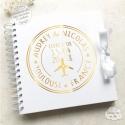Livre d'Or mariage blanc - Voyage à personnaliser pour votre mariage