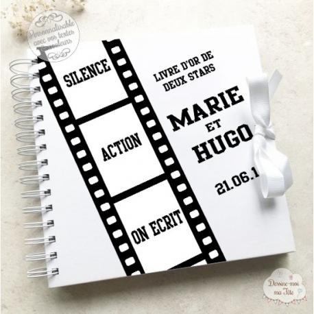 Livre d'Or mariage blanc - Cinéma - à personnaliser pour votre mariage
