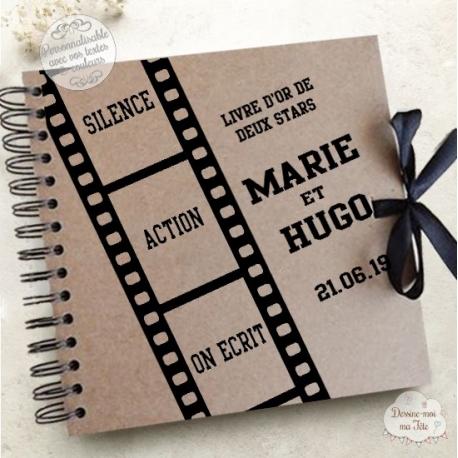 Livre d'Or mariage kraft - Cinéma - à personnaliser pour votre mariage