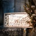 Livre d'Or mariage Cadre en bois + 100 coeurs en bois