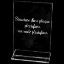 plexiglass sur socle transparent (en option)