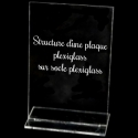 plexiglass sur socle transparent (en option)