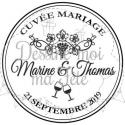 Tampon Bouchon de vin à personnaliser pour votre mariage