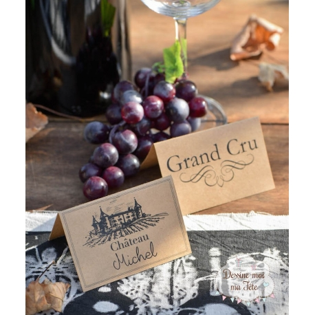 """10 Marque-places """"Etiquette de vin"""""""