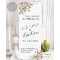 """Roll-up / kakémono """"Bienvenue Champêtre - blanc"""" personnalisé"""