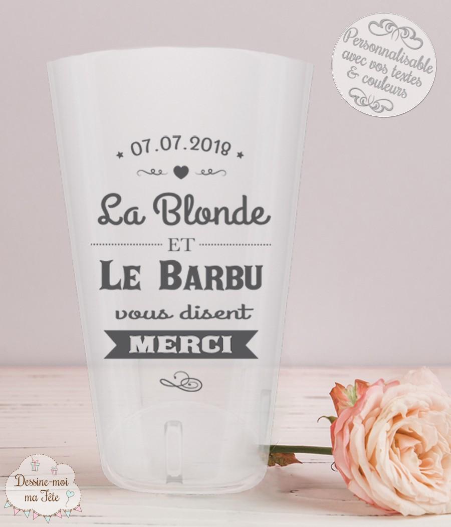 """Faire Des Gobelets Personnalisés gobelet mariage personnalisé - """"la blonde et le barbu"""""""