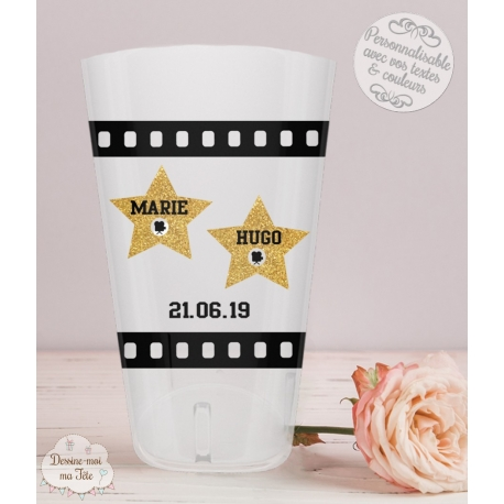 Gobelet mariage personnalisé - Cinéma