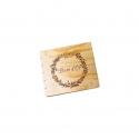 Livre d'Or en bois - couronne végétale