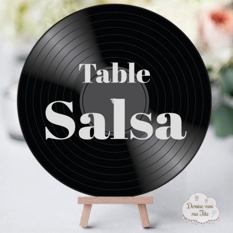 """Marque-table Musique """"Disque vinyle"""" personnalisé"""