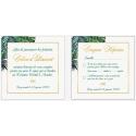 Faire part de Mariage - Tropique Chic - Cartes supplémentaires (EN OPTION)