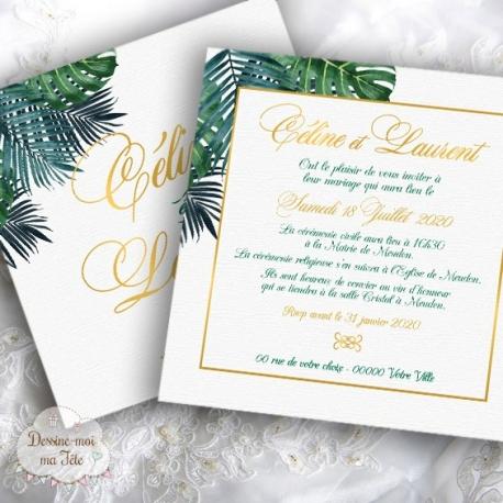 Faire part de Mariage - Tropique Chic