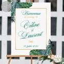 """Tableau de Bienvenue Mariage """"Tropiques Chic"""" personnalisé"""