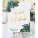 """Marque-table Chevalet """"Tropiques Chic"""" personnalisé"""