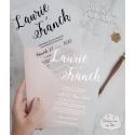 Faire part mariage sur papier calque - Minimaliste