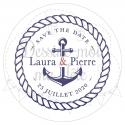 Faire part de Mariage - Marin / La mer