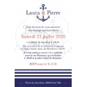Faire part de Mariage - Marin / La mer 2