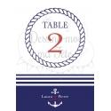 Marque-table esprit Marin - sur la mer- personnalisé