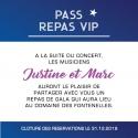 Carte pour repas pour Faire part de Mariage - Ticket de concert