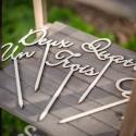 10 Marque-table en bois de 1 à 10