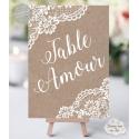 Marque-table personnalisé - Rustique chic / Bohème
