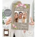 Cadre Photo Booth / cadre à selfies - Champêtre personnalisé