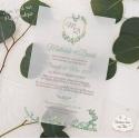 Faire part de Mariage papier Calque - Végétal