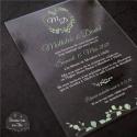 Faire part de Mariage plexi acrylique - Végétal