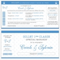 "Faire part de Mariage - ""Billet de train"""
