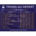 """Plan de table Mariage """"Panneau gare - Départ des trains"""" VERSION BLEU"""