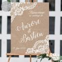 Tableau de Bienvenue Mariage Bohème / Rustique chic personnalisé