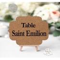 Marque table en liège - thème des vins et vignobles personnalisé