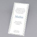"Carte remerciement de naissance Garçon - ""Liberty marque-page"""