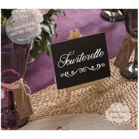"""Marque-table """"Chevalet ardoise"""" personnalisé"""