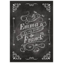 Faire part de Mariage - Black & White RECTO